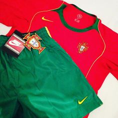 Current European champions Portugal - full kit from euro 2004 👌 shirt and shorts available by tapping that link in our bio #portugal #portugalkit #nike #vintagenike #portugalshirt #euro2004 #football #footballkit #footballshirt #vintagefootball #vintagefootballshirt #vintagesportswear #europeanfootball #retro #retrofootball #retrokit #classickit #internationalfootball #luisfigo #ruicosta #cristianoronaldo #soccer #soccerjersey