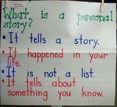 Personal narrative anchor chart.