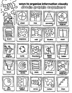 information organizing organizers visually graphic skills taking study note with and organizing information visually study skills and note taking with graphic organizersorganizing information visually study skills and note taking with graphic organizers Brain Based Learning, Visual Learning, Visual Note Taking, Visual Thinking, Thinking Maps, Sketch Notes, Study Skills, Study Notes, Student Teaching