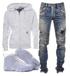 """""""Deymicho"""" by slymrodriguez on Polyvore featuring Balmain, men's fashion and menswear"""