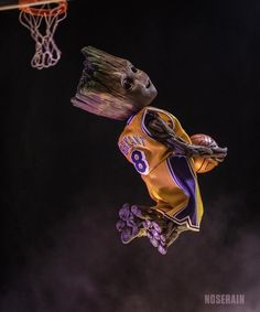 I created this photo for Mamba Day last year and wanted to celebrate Kobe Bryant for inspiring me and many others. He is the Grooat to me! Toy photography by noserain Featuring Hot Toys Baby Groot and Enterbay Kobe Bryant basketball uniform. Lakers Wallpaper, Ps Wallpaper, Deadpool Wallpaper, Avengers Wallpaper, Basketball Drawings, Basketball Art, Bryant Basketball, Baby Groot Drawing, Cute Disney Drawings