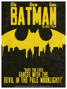 """Have you ever danced with the devil in the pale moonlight?"" ""What?"" ""I always ask that of all my prey, I just like the sound of it"". Movie Poster Art, Film Posters, Cinema Posters, Love Movie, Badass Movie, Epic Movie, Movie Tv, Batman The Dark Knight, Superman"