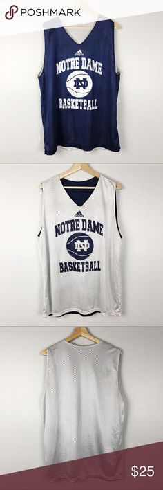 65fe9503edf313 Notre Dame Practice Basketball Jersey Pre-owned Adidas Notre Dame  Reversible Practice Basketball Jersey in