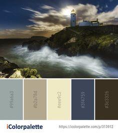 Color Palette Ideas from Sea Wave Coast Image