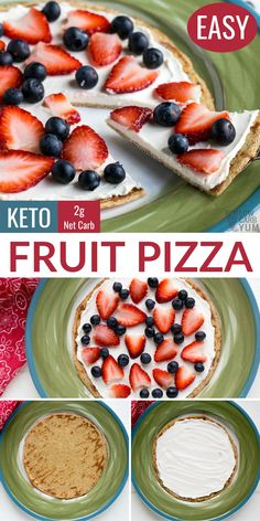 Keto friendly fruit pizza with cream cheese is an easy and delicious low carb dessert. Keto friendly fruit pizza with cream cheese is an easy and delicious low carb dessert. Keto Foods, Ketogenic Recipes, Keto Snacks, Keto Recipes, Fruit Pizza Recipes, Dessert Recipes, Fruit Pizzas, Low Sugar Recipes, Picnic Recipes