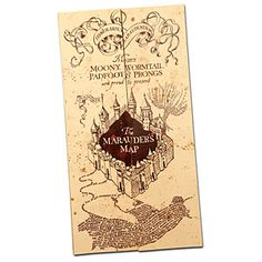 If you need to sneak about Hogwarts School of Witchcraft & Wizardry without being noticed by the wrong people, you need a Marauder's Map. This highly detailed replica is printed on quality parchment paper.