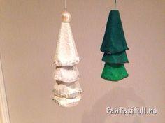 juletre jultre christmas christmastree tree eggekartong egg maling mal forming aktivitet barn children kids gøy juleverksted barnehagen hjemme perle hvitt grønt