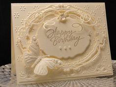 Ivory Linen Happy Birthday by jasonw1 - Cards and Paper Crafts at Splitcoaststampers