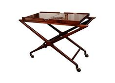 Art Deco Mid-Century tea trolley in the manor of Dunbar designed by Wormley.
