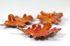 Autumn leaves Ceramic fall leaves Home decor Fall door orlydesign