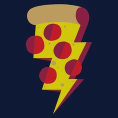 It's a pizza lightning storm. Grab something metal. Pizza Lightning by Alex Eben Meyer Cute Pizza, I Love Pizza, Funny Pizza, Pizza Shuttle, Pizza Art, Pizza Pizza, Comida Pizza, Pizza Project, Kids Graphic Design