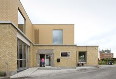 Brick fire station converted to create Cultural Center de Neerbeek by Urbain Architectencollectief