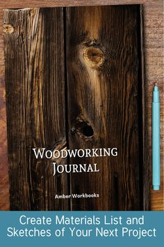 Plan your next woodworking project with the help of this note book, with a materials list and special pages for sketches to flesh out your ideas. Woodworking Journal, Woodworking Ideas, Project Planner, Sketch Design, The Help, This Book, Notebook, Sketches, Drawings
