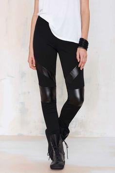 Nasty Gal Barracuda Vegan Leather Leggings