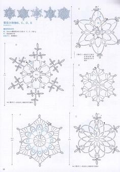 The snowflakes crochet pattern is a good guideline to knit the crochet products. There are some crochet patterns that can be chosen for knitting. Every crochet pattern is like a magical pattern and motif. Free Crochet Snowflake Patterns, Crochet Stars, Crochet Snowflakes, Thread Crochet, Crochet Crafts, Crochet Flowers, Crochet Stitches, Crochet Patterns, Crochet Angels