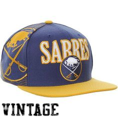 Mitchell & Ness Buffalo Sabres Vintage Laser Stitch Snapback Hat - Navy Blue/Gold by Mitchell & Ness. $27.95. Quality embroidery. 80% Acrylic/20% Wool. Flat bill. Adjustable plastic snap strap. Structured fit. Mitchell & Ness Buffalo Sabres Vintage Laser Stitch Snapback Hat - Navy Blue/GoldStructured fitOfficially licensed NHL product80% Acrylic/20% WoolFlat billAdjustable plastic snap strapImportedQuality embroidery80% Acrylic/20% WoolStructured fitAdjustable plastic snap st...