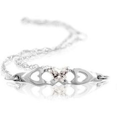 14k White Gold Kids Bfly® CZ APRIL Birthstone Butterfly Bracelet. $149.99 #ChildrensJewelry