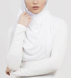White Soft Crepe Hijab - £11.90 : Inayah, Islamic Clothing & Fashion, Abayas, Jilbabs, Hijabs, Jalabiyas & Hijab Pins