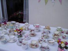 Tea cups ready & waiting