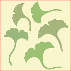 Ginko Stencil Stencils, Tree Stencil, Leaf Stencil, Stencil Diy, Stencil Patterns, Stencil Designs, Tin Can Lanterns, Grass Flower, Tree Leaves