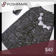 LOFT  A-line skirt Black and silver thread, perfect for work/dressy occasion LOFT Skirts A-Line or Full