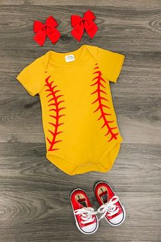 2134c7dfa Our softball onesie is so cute and perfect for boys and girls! Great for  everyday wear, softball games, parties or events! Be the star of the show  in this ...