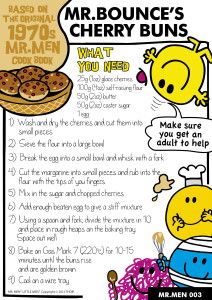 Mr Men Mr Bounce's Cherry Buns recipe