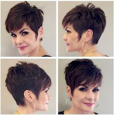 "How to style the Pixie cut? Despite what we think of short cuts , it is possible to play with his hair and to style his Pixie cut as he pleases. For a hairstyle with a ""so chic"" and pointed… Continue Reading → Latest Short Hairstyles, Mom Hairstyles, Short Pixie Haircuts, Haircut Short, Medium Hairstyles, Trendy Hairstyles, Older Women Hairstyles, Haircut For Older Women, Short Hair Cuts For Women"