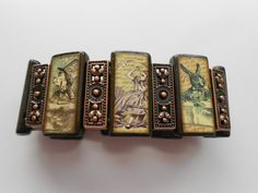 Alice in Wonderland Bamboo Tile & Copper by AlteredTileDesigns
