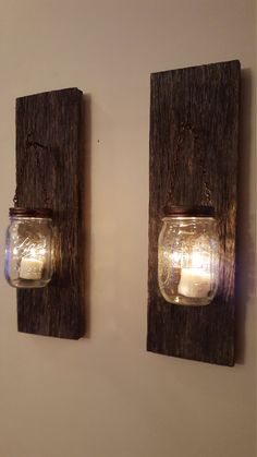 Hey, I found this really awesome Etsy listing at https://www.etsy.com/listing/262047238/mason-jar-lantern-sconces-on-dark-111