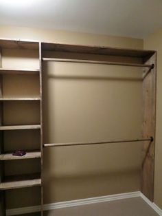 Clever Diy Closet Design Organization Ideas is part of Closet Organization Ideas - The opportunity and saving money to make your own room are the most significant benefits of DIY or do it […] Closet Storage, Bedroom Organization Closet, Pallet Closet, House, Home, Diy Closet Shelves, Closet Layout, Closet Makeover, Closet Redo