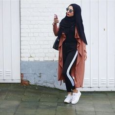Casual and sporty hijab style \u2013 Just Trendy Girls Street Hijab Fashion,  Arab Fashion,