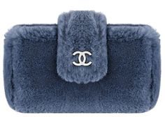 Chanel Blue Fantasy Fur And Leather Case