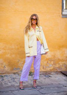 a5f439459151 Emili Sindlev weairng purple pants