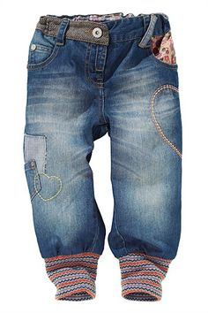 Kid's Clothing - Kidswear and Clothes for Children - Next Heart Rib Cuff Trousers - EziBuy New Zealand