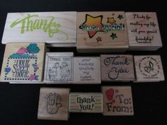 MIXED LOT11 WM RUBBER STAMPS 6 THANK YOU- HOME SWEET HOME- YOUR SPECIAL-KINDNESS #mixedlotOF11 #Background