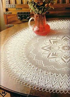 Round tablecloth….free pattern