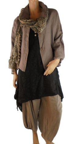 FJ800 Tunika Kleid Patchwork Leinen Vintage von MEIN DESIGN           Lagenlook de Mallorca auf DaWanda.com