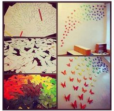Tumblr room butterflies!! I love this so much