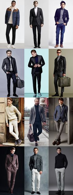 Men's 2015 Autumn/Winter Fashion Trend Preview: Roll Neck Outfit Inspiration Lookbook