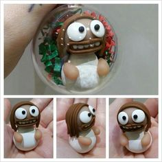 Jesus Bauble Sculpey fimo polymer clay