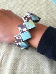 sweet lemonayde: Glossy Gum Wrapper Chain Paper Bracelet Tutorial