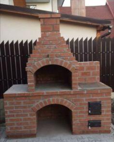 Outdoor Bbq Kitchen, Outdoor Oven, Backyard Kitchen, Rustic Backyard, Outdoor Kitchen Design, Bbq Grill Diy, Barbeque Design, Barbecue Garden, Brick Grill