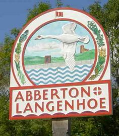 Abberton & Langenhoe. English Village, Decorative Signs, Britain, England, Names, Graphics, Decorative Screen Panels, Graphic Design, Printmaking
