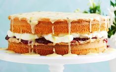 Named after Queen Victoria, this classic sponge cake has been a teatime treat for aeons. Here, it gets a modern facelift with a passionfruit icing.