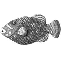 Big Sky Hardware - Animals - Hook Fish Knob in Pewter
