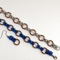 Twisted Copper Byzantine Bracelet