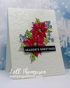 Stamping with Loll: January Rudolph Days White Acrylic Paint, White Acrylics, Black Banner, Poinsettia Cards, Snowflake Background, Card Making Inspiration, Distress Ink, Cardmaking, Stamping