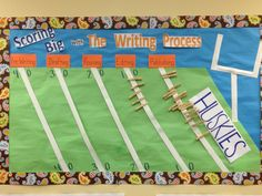 Writing Process Bulletin Board -   Students move their clothespins as they move from one phase to the next. (They LOVED it!)