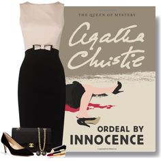 Ordeal by Innocence by ameve on Polyvore featuring polyvore, fashion, style, Diane Von Furstenberg, Chanel, agathachristie, murdermystery and MysteryNovel